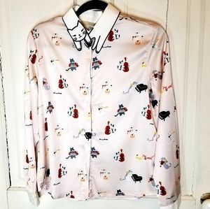 Tops - Cat Collared Blouse